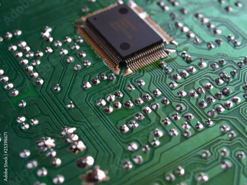 Pcb board : Detail of an electronic printed circuit board.