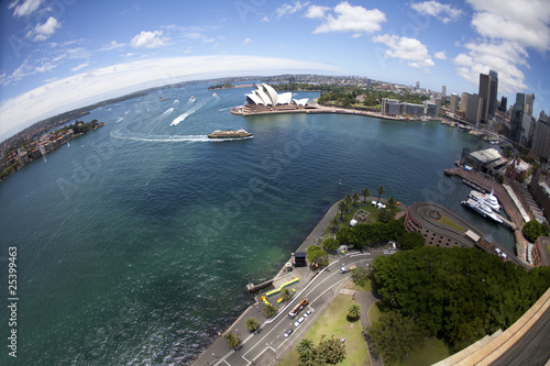 Sydney harbor  with ferry service