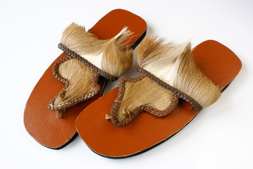 Traditional African sandals