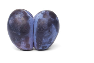 two plums heartshaped