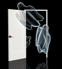 Ghosts, opening a door