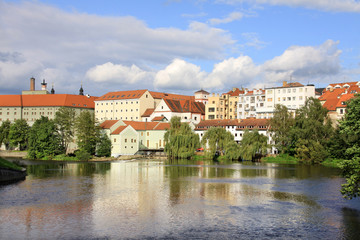 The medieval town Pisek in Czech Republic