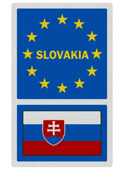 EU signs series - Slovakia (in English language), photo realisti