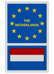 EU signs series - The Netherlands, photo realistic