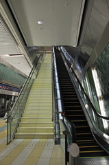 Escalator in Dubai metro