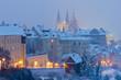 Hradcany in winter, Prague, Czech Republic