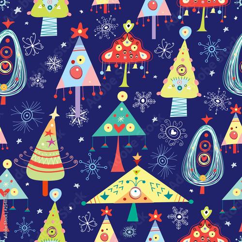 Cotton fabric texture Christmas Trees