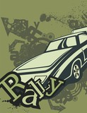 Grunge Automotive Background poster