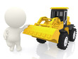 3D guy with a bulldozer