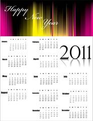 Calendar for 2011 vector illustration