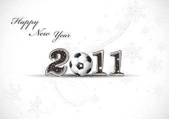 Abstract new year 2011 in white background Vector