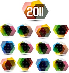 Abstract creative Calendar for 2011 Vector illustration