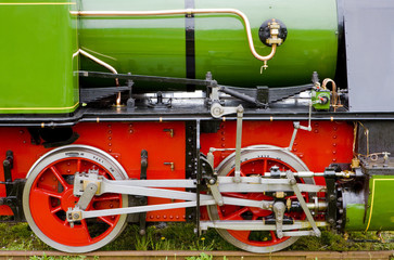 steam locomotive's detail, Hoorn - Medemblik, Noord Holland, Net
