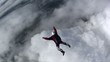 Skydiver jumps from a plane