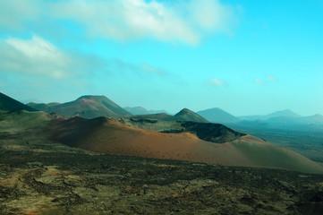 volcano in Timanfaya Park, Lanzarote, Spain
