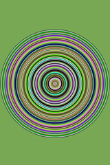 Kreisrunde farbige Streifen mit Platz für Text