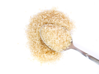 spoon and cane sugar