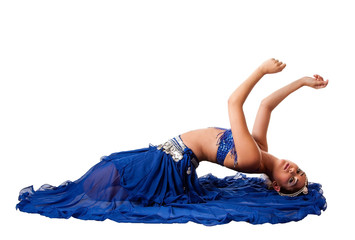Belly dancer laying backwards