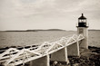 Marshall Point lighthouse on Atlantic coast of Maine