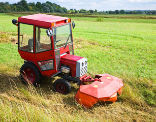 agrimotor on meadow