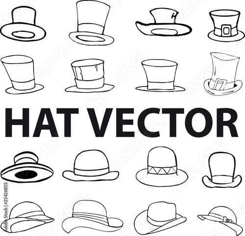 black hat vector lllustration comic