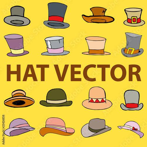Colour hat vector lllustration comic