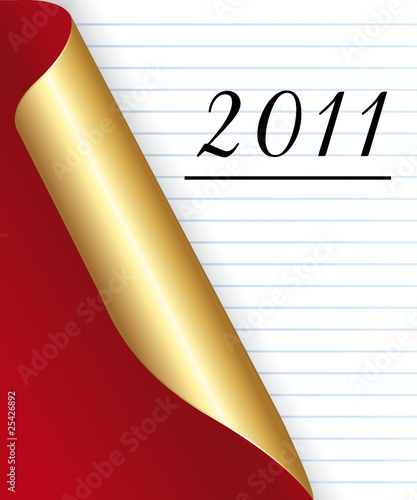 2011 New year Red and golden page background