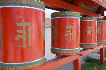 prayer wheels in Mongolia