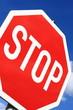 Stopschild in Deutschland.