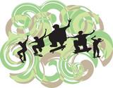 Skateboarding sequence poster