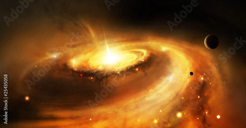 Leinwandbild Motiv Galaxy core in space