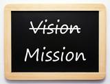 Vision / Mission - Konzept Schild poster