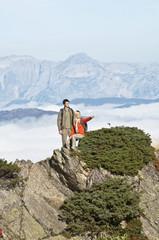 Österreich, Steiermark, Reiteralm, Wanderer in den Bergen