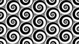 Abstract backround with black and white hypnotic spirals loop