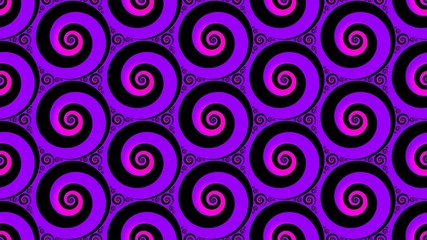 Abstract backround with colorful hypnotic spirals loop