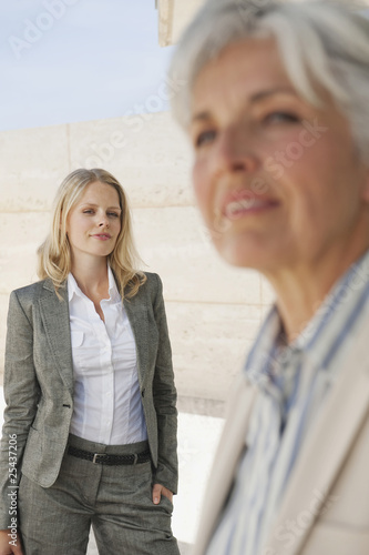 spain, mallorca, two businesswomen