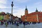 column and royal castle in warsaw - 25439021