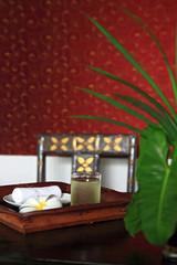 Refreshment set using in Spa Massage
