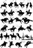 Horse Silhouettes vector mix