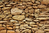 Fototapety stone masonry detail on balearic islands