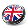 3d button uk flag, united kingdom
