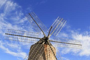 Salt windmill traditional Formentera Ibiza Balearic
