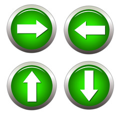 Green Arrow - Webdesign Buttons
