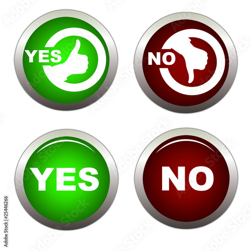"""Yes or No Buttons"" Stock image and royalty-free vector ..."