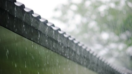 raindrops on roof