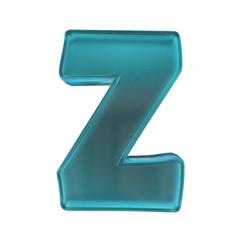 blue frost glass alphabet