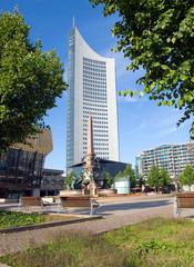 Leipzigs Augustusplatz im Sommer