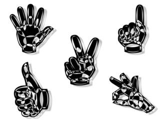 5 henna Art hands