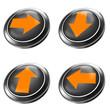 3d button set pfeil, weiter, check, ok, isoliert