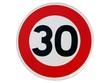 Panneau de limitation de vitesse ' 30 km/h '